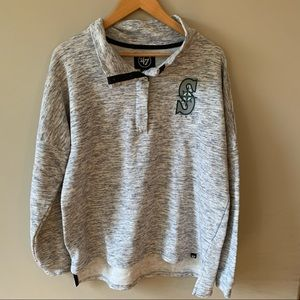 Seattle Mariners Quarter Snap Grey Sweater